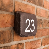 Slate paddlestone number sign - small