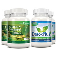 Image of Green Coffee Bean Extract 6000mg Detox Combo Pack - 2 Month Supply
