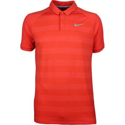 Nike Golf Shirt Zonal Cooling Stripe Rush Coral SS18