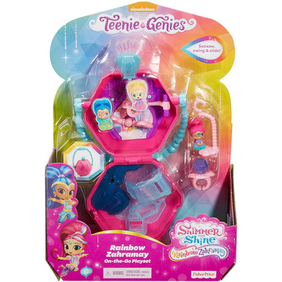 Fisher Price Shimmer & Shine Rainbow Zahramay On The Go Toy Playset