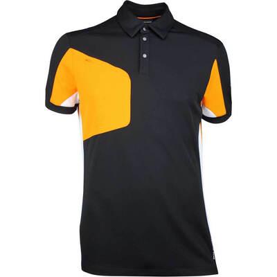 Galvin Green Golf Shirt MANNIX Black Orange SS18