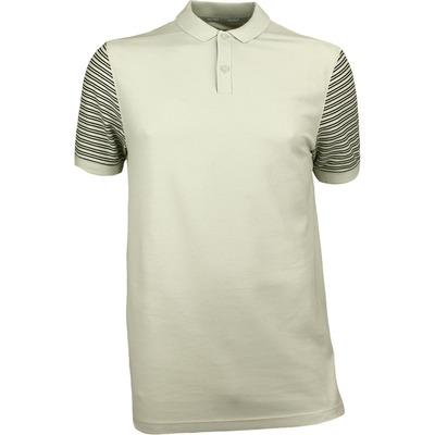 Nike Golf Shirt NK Dry Pique Stripe Light Bone SS18