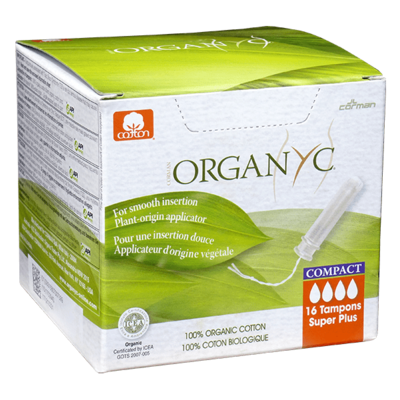 Organyc Super Plus Cotton Compact Applicator Tampons
