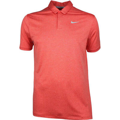 Nike Golf Shirt NK Dry Control Stripe Rush Coral SS18