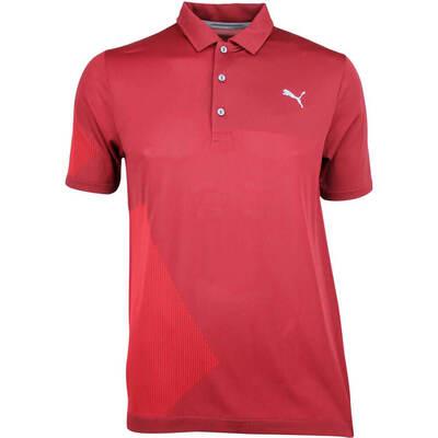 Puma Golf Shirt Evoknit Dassler Pomegranate AW18