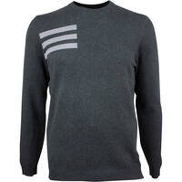 Image of Adidas Golf Jumper - Blend Crew Sweater - Black Melange AW18