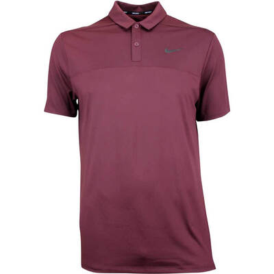 Nike Golf Shirt NK Dry Colour Block Burgundy Crush AW18