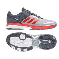Image of Adidas Court Stabil Grey/Silver/Red Indoor Hockey Shoes 2018 #UK 5.5