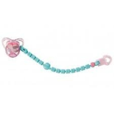Baby Annabell Pink Dummy with Blue/Green Chain