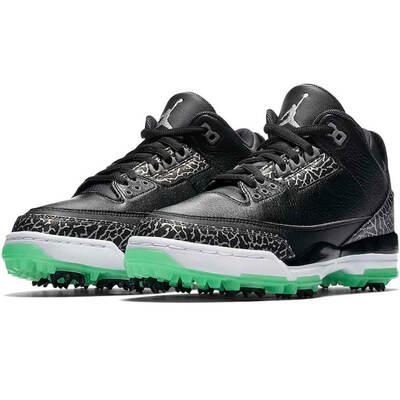 Nike Golf Shoes Air Jordan III Black Green Glow 2018
