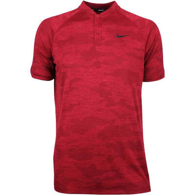 Nike Golf Shirt TW Zonal Cooling Camo Blade Gym Red SS19