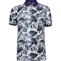 GFORE Golf Shirt Palm Frond Polo Onyx AW18