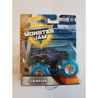 Hot Wheels Monster Jam   Cleatus   Clear Crushers 3/4