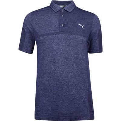 PUMA Golf Shirt Evoknit Breakers Peacoat SS19