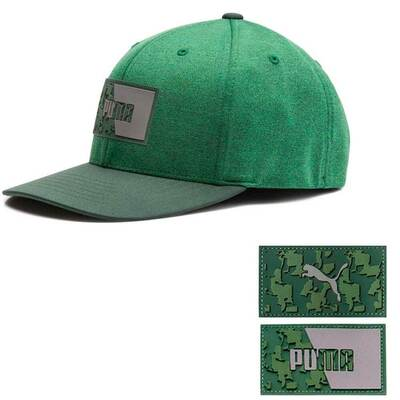 PUMA Golf Cap Patch 110 Snapback Green Camo SS19