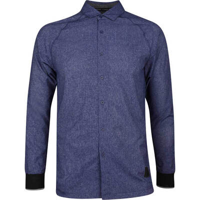 adidas Golf Shirt Adicross Oxford Button Up Dark Blue AW19