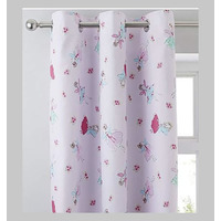 Catherine Lansfield Fairies Eyelet Curtains 66 x 72-Inch
