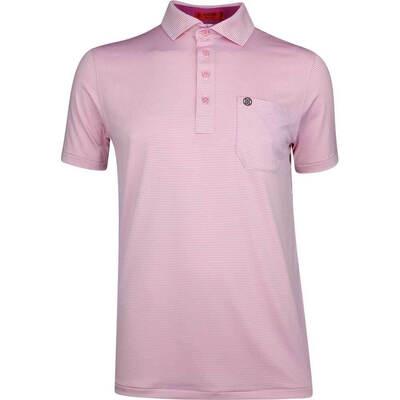GFORE Golf Shirt Feeder Stripe Polo Sea Pink SS19