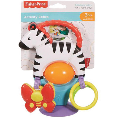 Fisher Price Activity Zebra New Born Sensory Toy With Suction Base With Colours