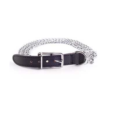 Ancol Heritage 3 Chain and Leather Dog Collars