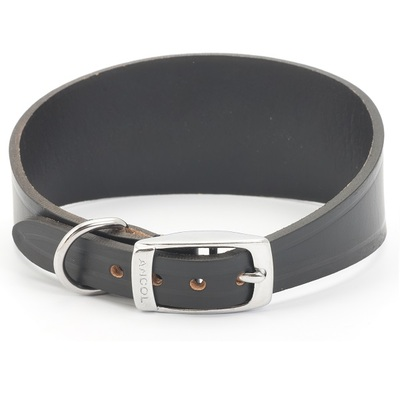 Ancol Whippet & Greyhound Leather Dog Collar
