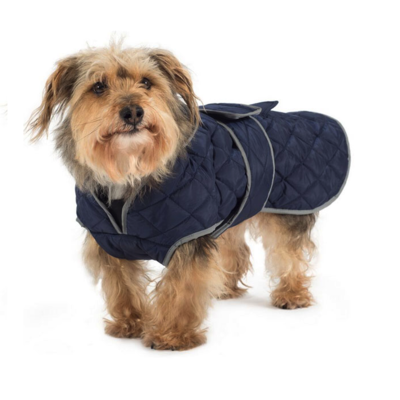 Ancol Navy Blue Quilt Dog Coat