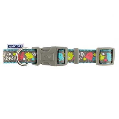 Ancol Teal Monsters Adjustable Collar