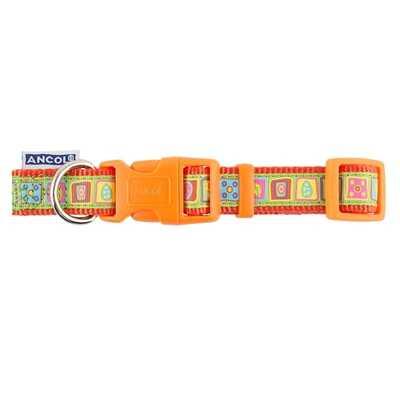 Ancol Adjustable Orange Squares Collar
