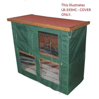 Lazy Bones Rabbit Hutch & Run Solid Base
