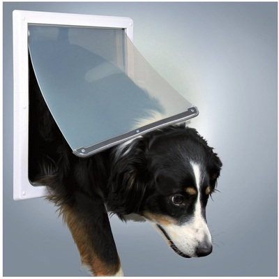 Trixie 2-Way White Plastic Dog Flap