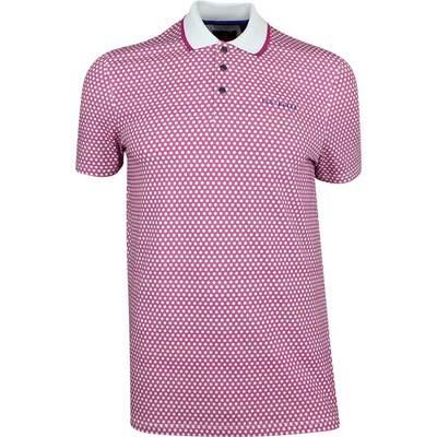 Ted Baker Golf Shirt Hazelnt Geo Polo Fuchsia SS19