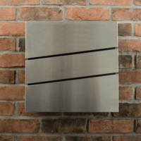 Stainless Steel Letterbox - The Statement - non personalised