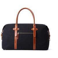 Hautton Canvas Cabin Holdall / Weekender / Travel / Overnight Bag - Black