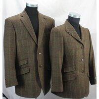 Hunter Outdoor Mens Bark Classic Tweed Tailored Jacket / Blazer - Dark Tan XS