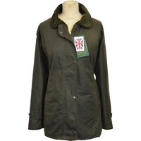 Walker & Hawkes Ladies' Olive Country Wax Waterproof Coat / Jacket - XS