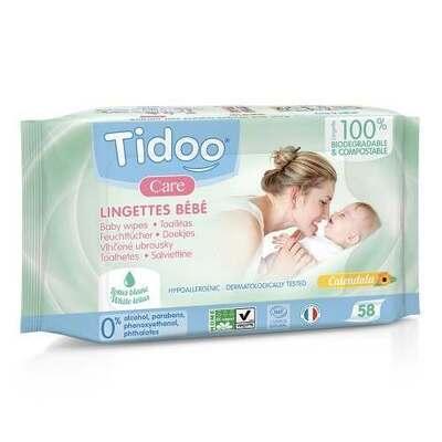 Tidoo Natural Perfume Compostable Wipes