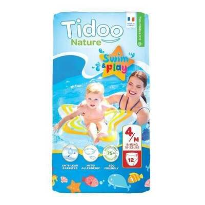 Tidoo Size 4 Swimming Nappies - 12 Nappies