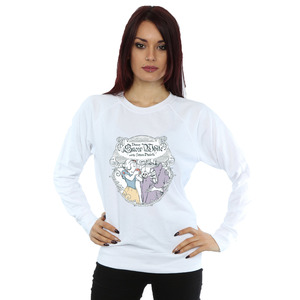 disney princess women's snow white apple bite sweatshirt