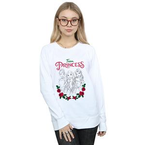 disney princess women's flower team sweatshirt