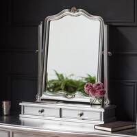 Gallery Direct &pipe; Chic Dressing Table Mirror Silver