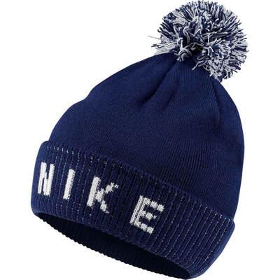 Nike Golf Hat NK Reversible Pom Beanie Blue Void AW19
