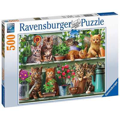Ravensburger Cats On The Shelf 500pc Jigsaw Puzzle