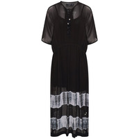 RELIGION ECLIPSE KAFTAN -  JET BLACK/WHITE - S