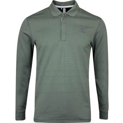 adidas Golf Shirt LS Thermal Polo Legend Earth AW19