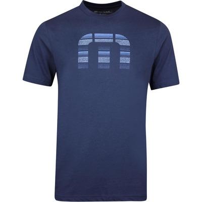 TravisMathew Golf T Shirt Social Media Mood Indigo AW19