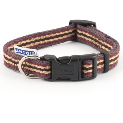 Ancol Cotton Stripe Adjustable Fashion Dog Collar