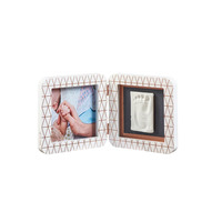 Baby Art My Baby Touch 1 Print Hand footprint photo frame - White Copper Edition