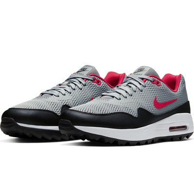Nike Golf Shoes Air Max 1 G Mesh Particle Grey Red 2020