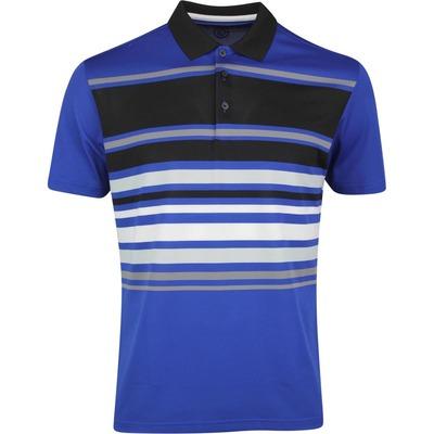 Galvin Green Golf Shirt Miguel Surf Blue Black SS20