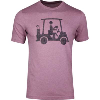 TravisMathew T Shirt Mapes Tee Heather Bordeaux SS20
